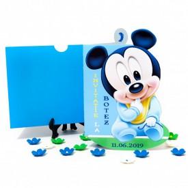 Invitatie Botez Contur Mickey Mouse 8