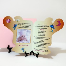 Invitatie Botez Contur Strumfita 9