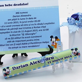 Invitatie Botez Papirus Mickey Mouse