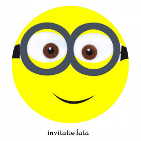 Invitatie Botez Rotunda Minion