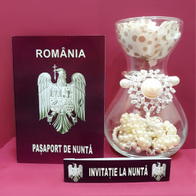 Invitatie Nunta BBS4 Pasaport Simplu