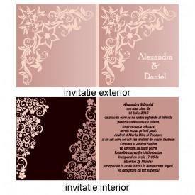 Invitatie Nunta Patrata INPT9