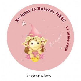 Invitatii Botez Rotunde Fairy