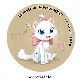 Invitatii Botez Rotunde Pisicile Aristocrate 2