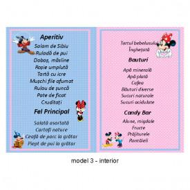 Meniu Botez Gemeni Simplu Mickey/Minnie 2