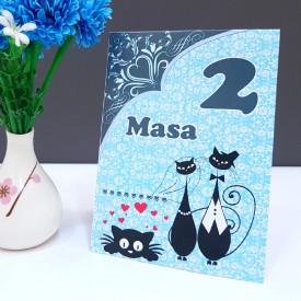 Nr de masa 2 in 1 Nunta-Botez NB6