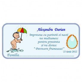 Plic Botez Bebe 96