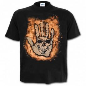 Tricou decolorat personalizat Hand
