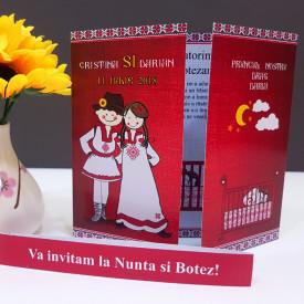 Invitatie 2 in 1 Nunta-Botez Regal NB4