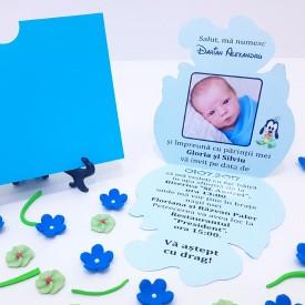 Invitatie Botez Contur Baby Goofy