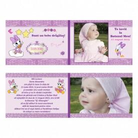 Invitatie Botez Dubla Baby Daisy