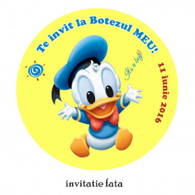 Invitatie Botez Rotunda Donald