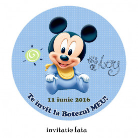 Invitatie Botez Rotunda Mickey Mouse 1