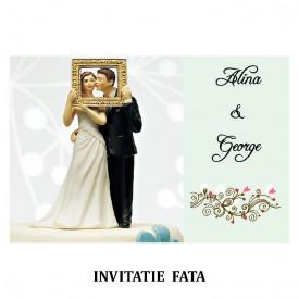 Invitatie Nunta Carte Postala INCP67