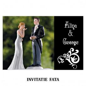 Invitatie Nunta Carte Postala INCP71