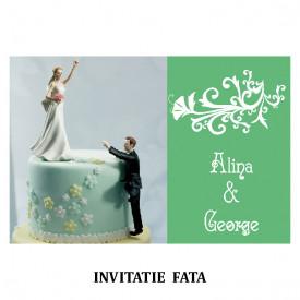 Invitatie Nunta Carte Postala INCP73
