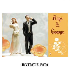 Invitatie Nunta Carte Postala INCP75