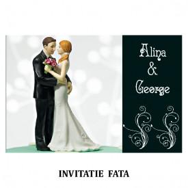 Invitatie Nunta Carte Postala INCP79