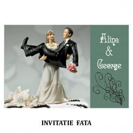 Invitatie Nunta Carte Postala INCP83