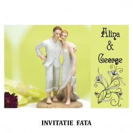 Invitatie Nunta Carte Postala INCP87