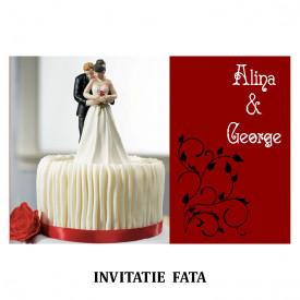 Invitatie Nunta Carte Postala INCP89