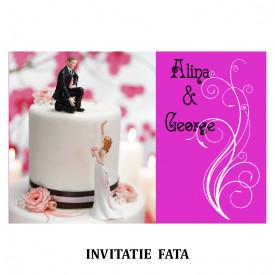 Invitatie Nunta Carte Postala INCP91