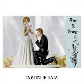 Invitatie Nunta Carte Postala INCP93