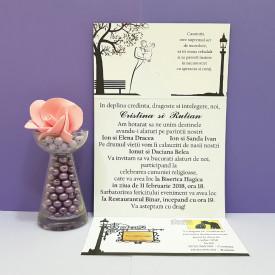 Invitatie Nunta Florale Indragostiti