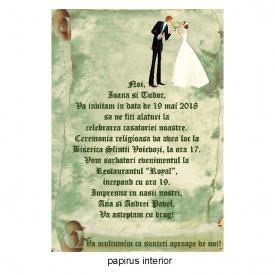 Invitatie Nunta Papirus INPAP14