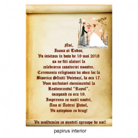 Invitatie Nunta Papirus INPAP19
