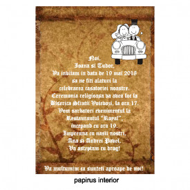 Invitatie Nunta Papirus INPAP4