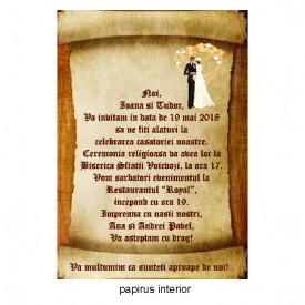 Invitatie Nunta Papirus INPAP9
