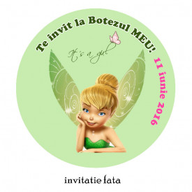 Invitatii Botez Rotunde Tinkerbell 1