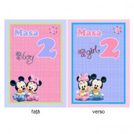 Nr de Masa Botez Gemeni Mickey/Minnie 1
