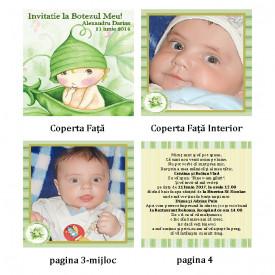 Invitatie Botez Carticica Bebe Pastaie