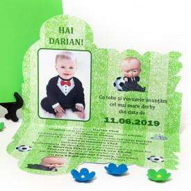 Invitatie Botez Contur Baby Boss 2
