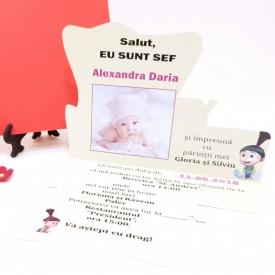 Invitatie Botez Contur Baby Princess 8