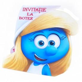 Invitatie Botez Contur Strumfita 2