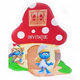 Invitatie Botez Contur Strumfita 7