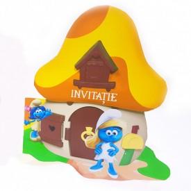 Invitatie Botez Contur Strumfita 8