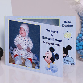 Invitatie Botez Dubla Mickey Mouse 3