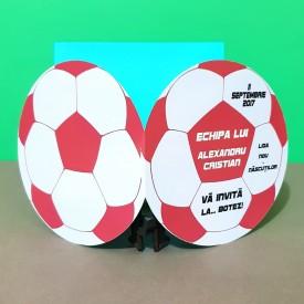 Invitatie Botez Fotbal Rosu-Alb-Negru