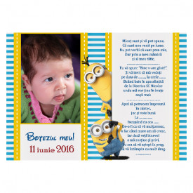 Invitatie Botez Magnetica Minion 3