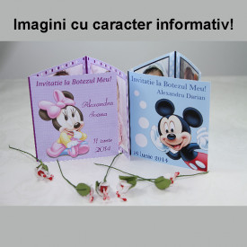 Invitatie Botez Patrata Mickey Mouse
