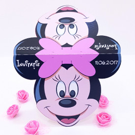 Invitatie Gemeni Contur Minnie Mouse 1