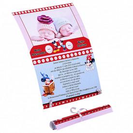 Invitatie Gemeni Papirus Mickey-Minnie Var 3
