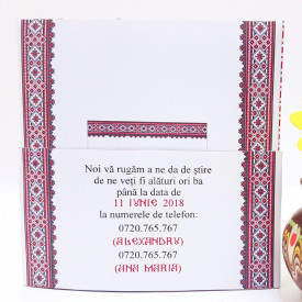 Invitatie Nunta BBS10 Traditional Romanesc 2