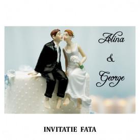 Invitatie Nunta Carte Postala INCP65
