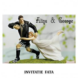 Invitatie Nunta Carte Postala INCP69