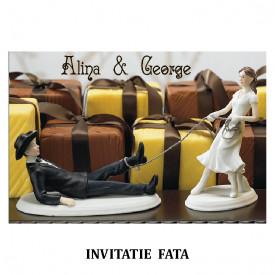 Invitatie Nunta Carte Postala INCP77